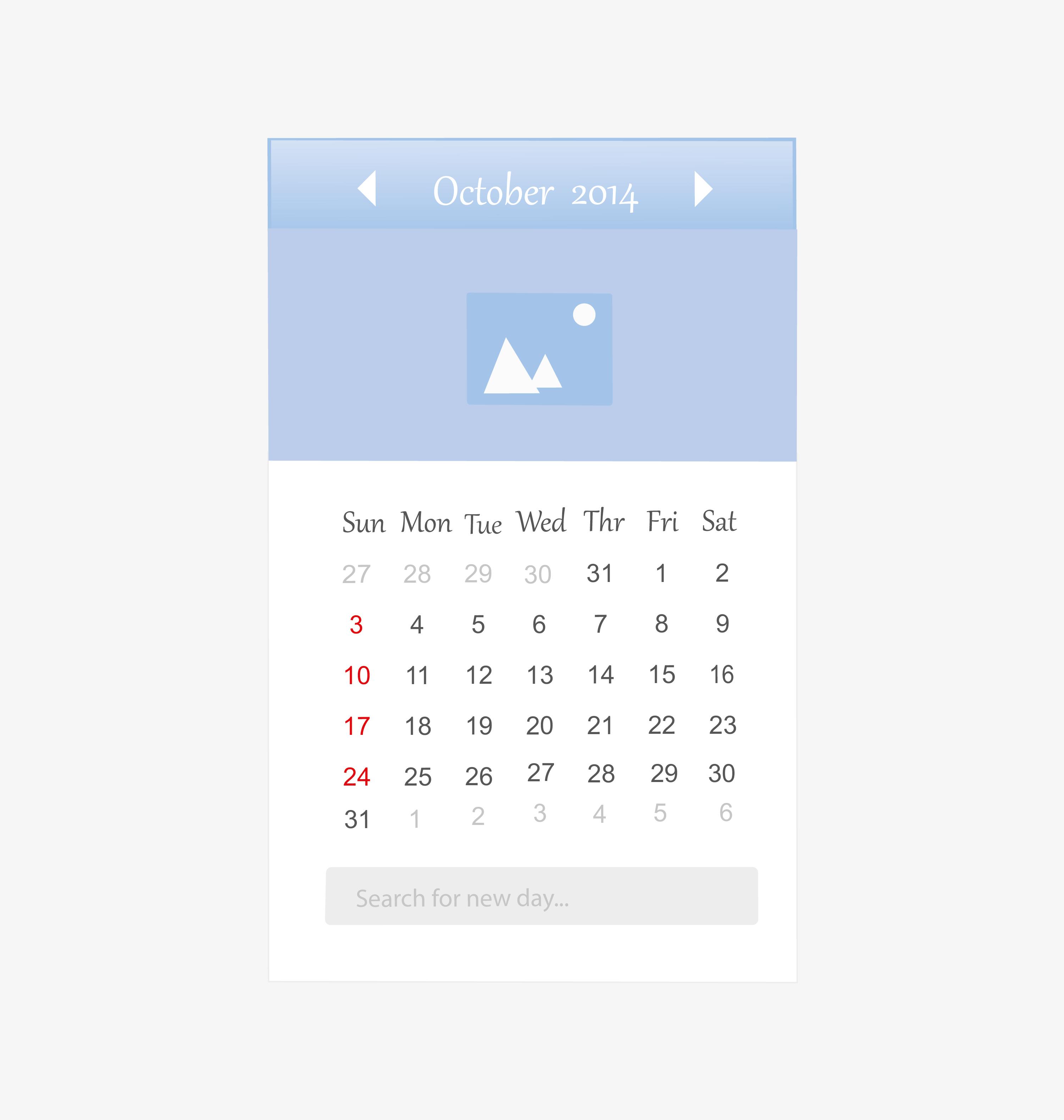 Calendar layout 3