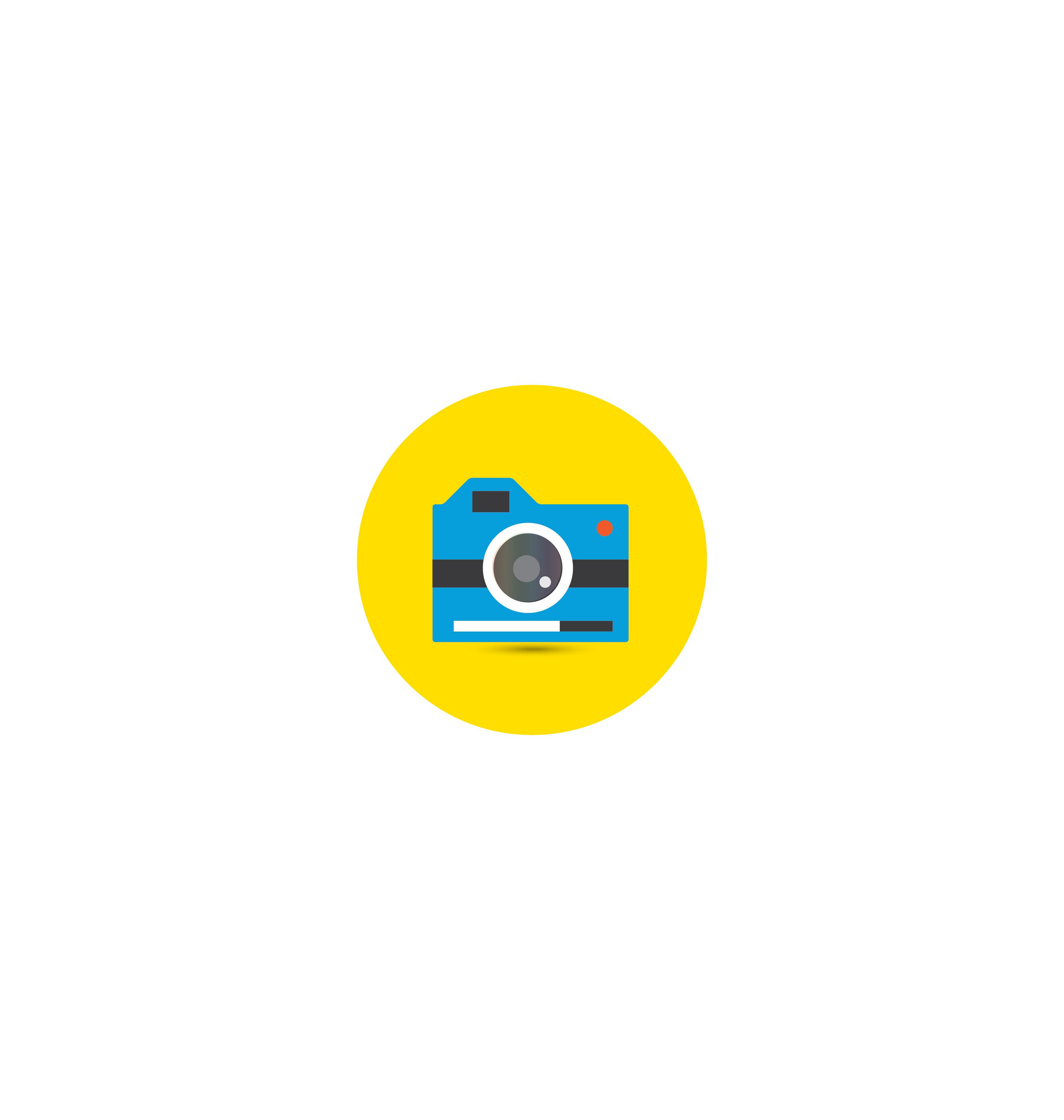 Camera icon vector 1