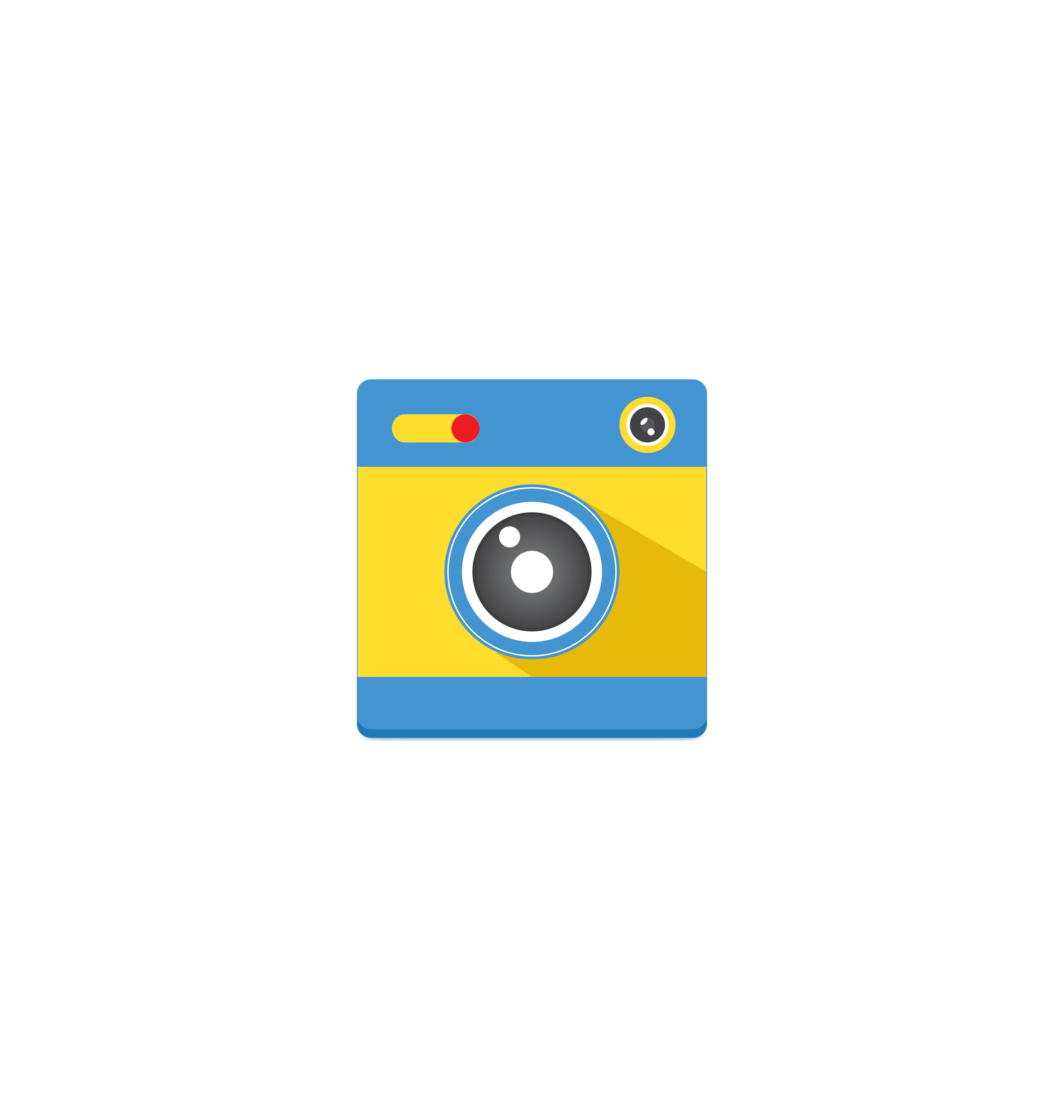Camera icon vector 4