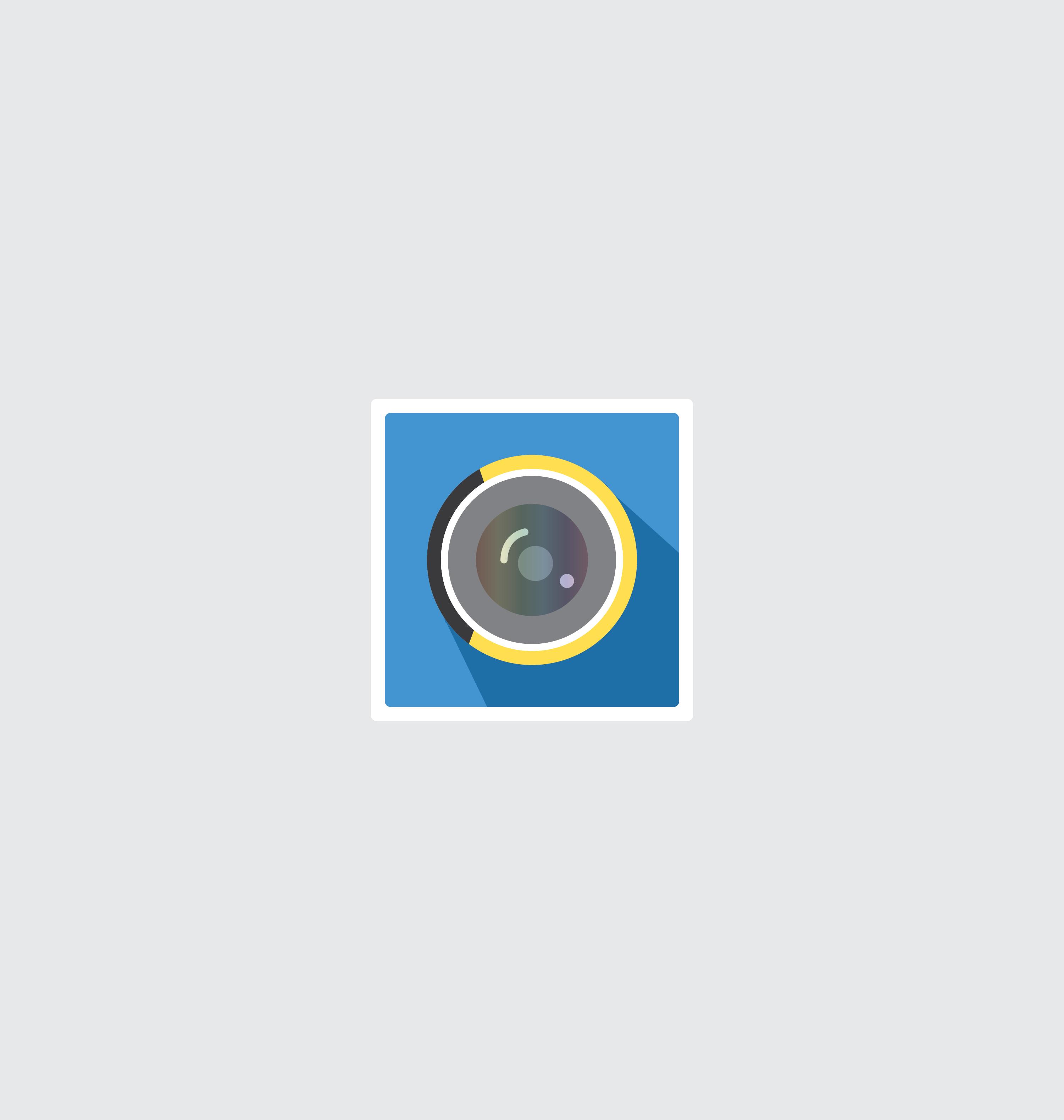 Camera icon vector 6