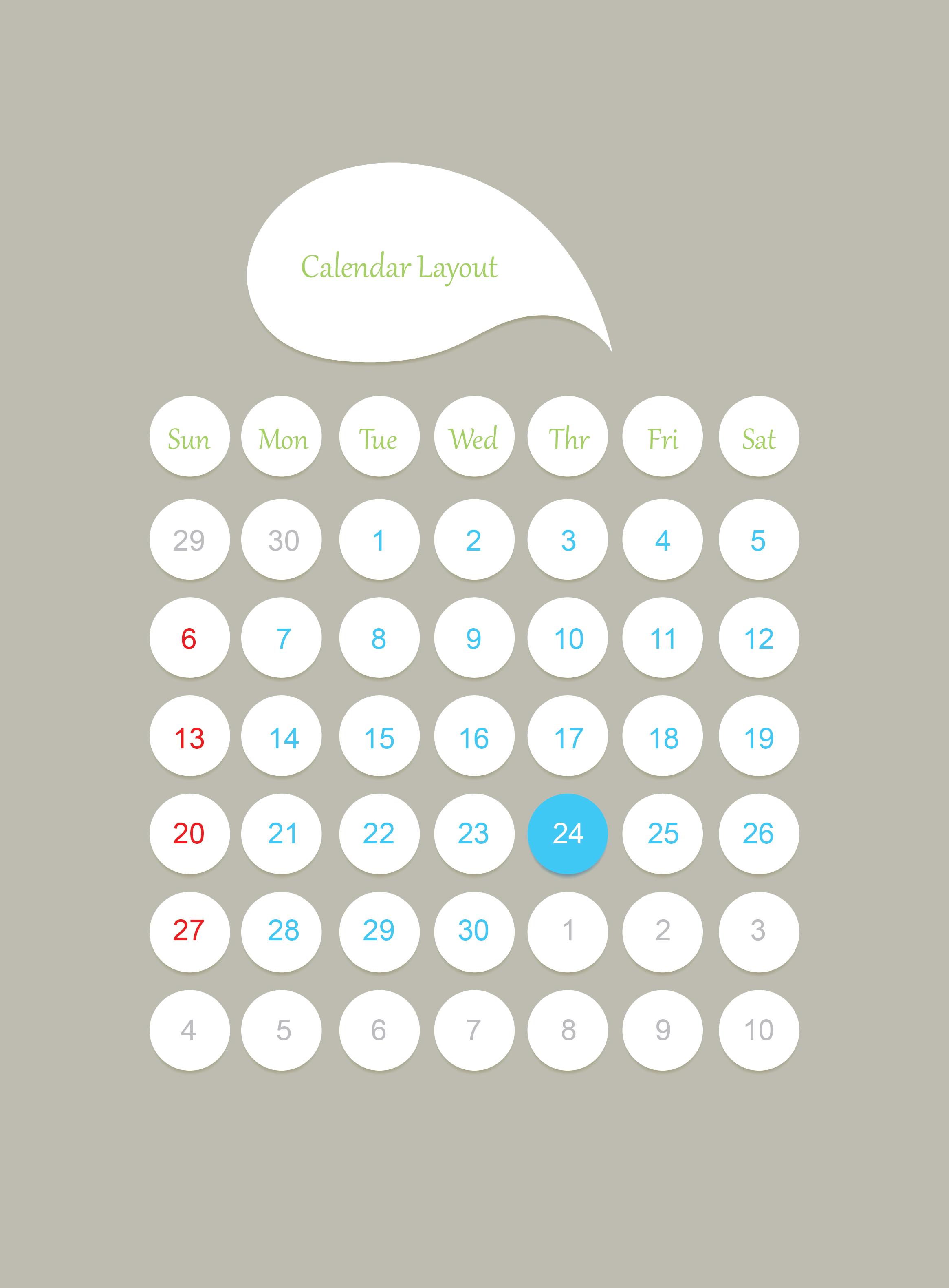calendar layout 2