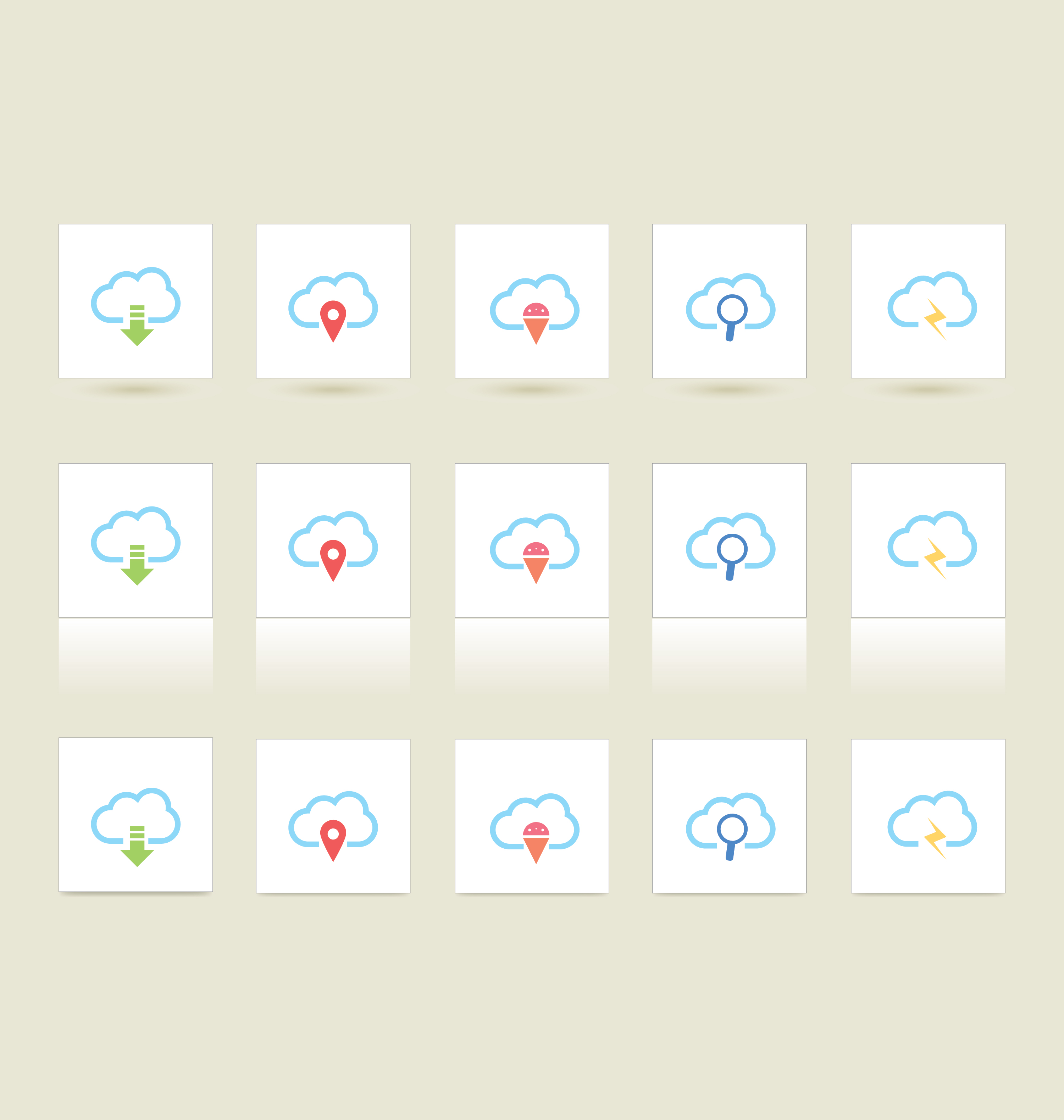 cloud 3 styles icons 1