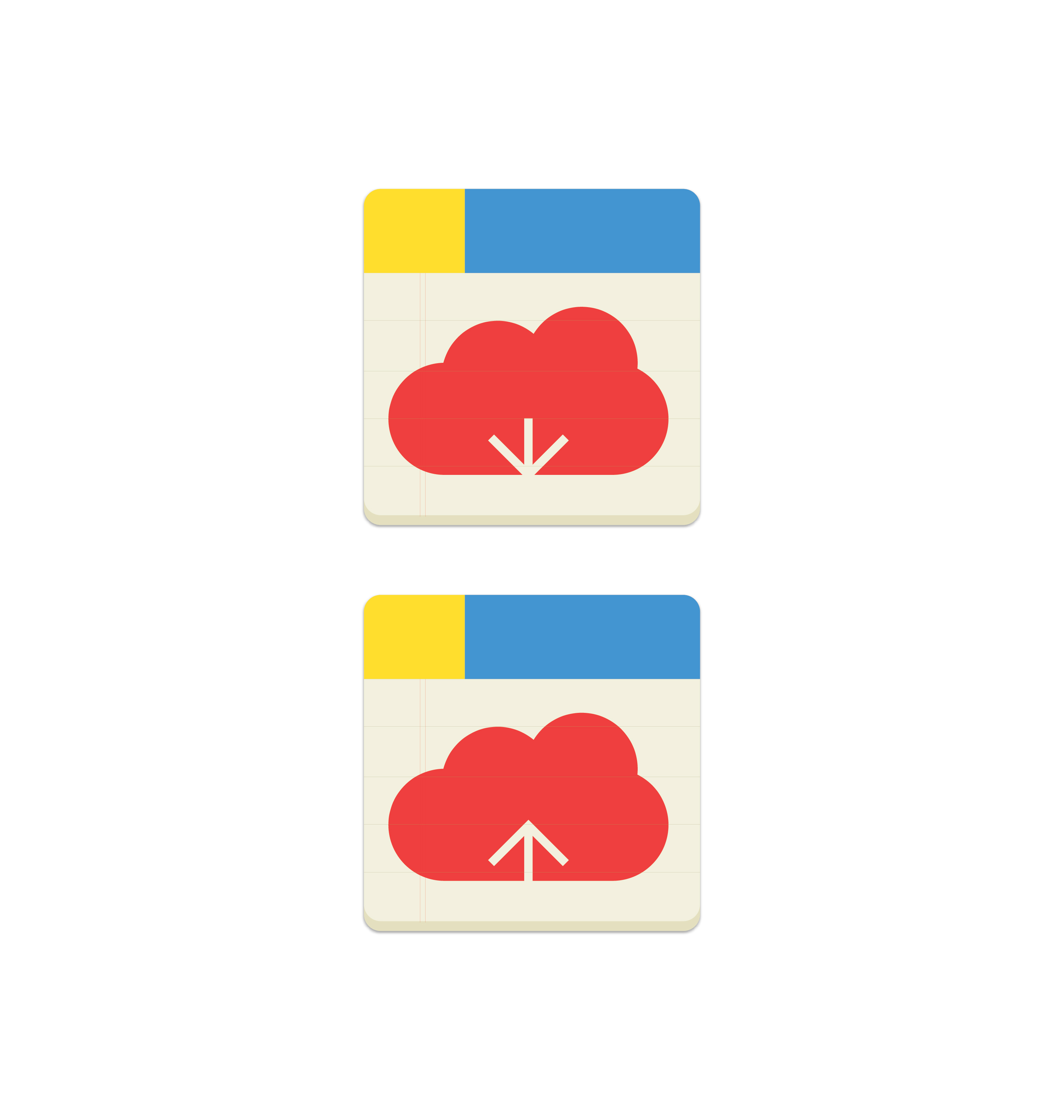 cloud download and upload icon 1