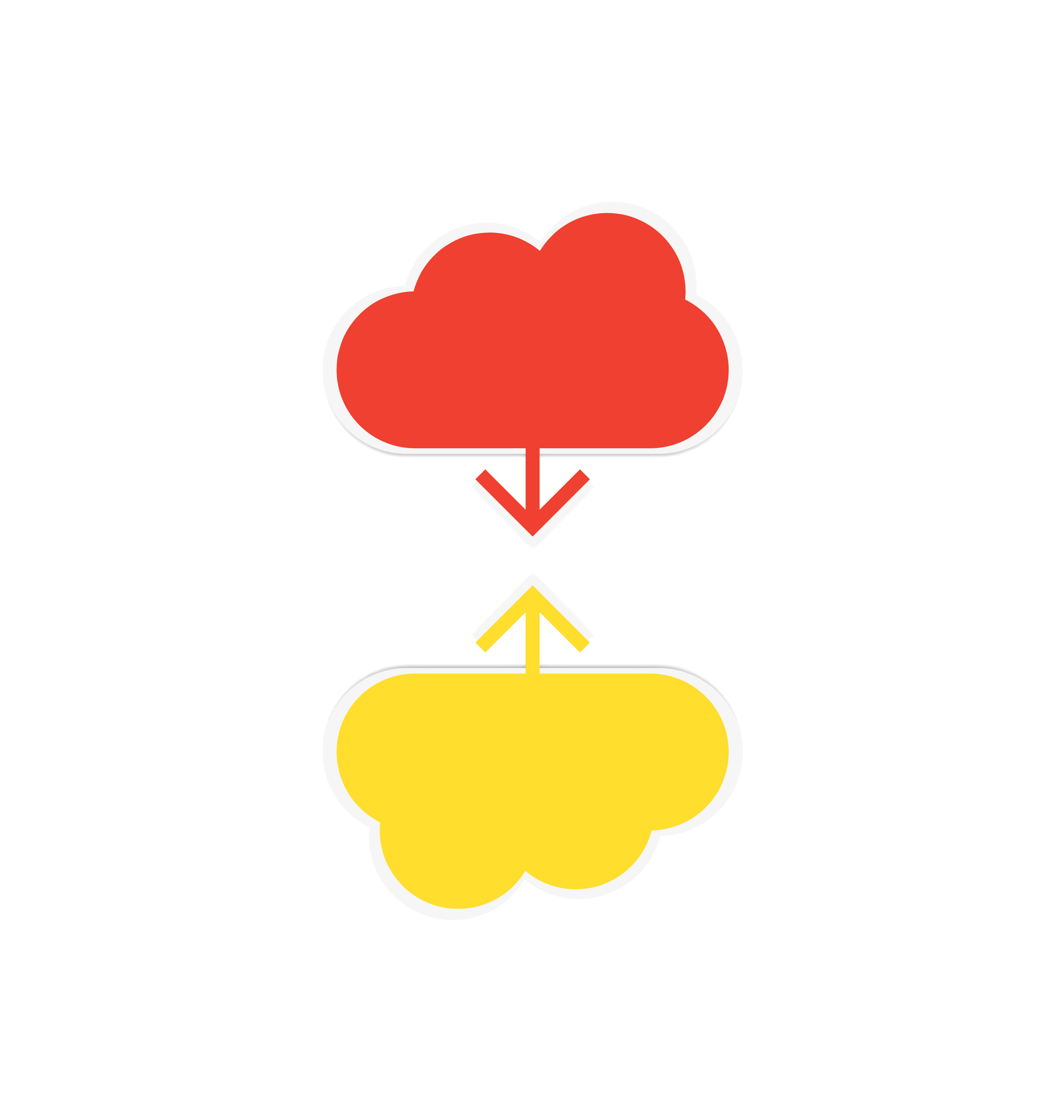 cloud download and upload icon 2