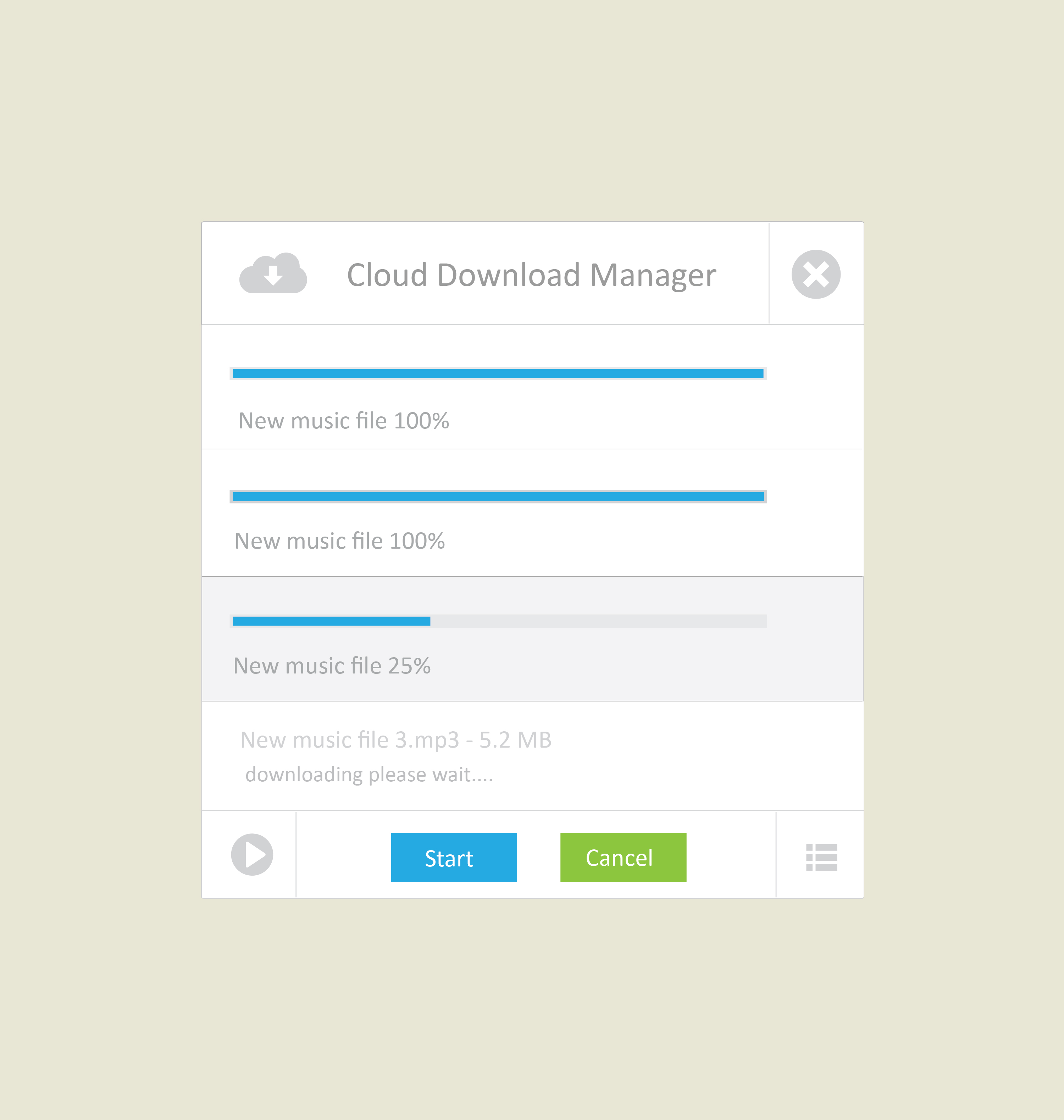 Cloud download manager