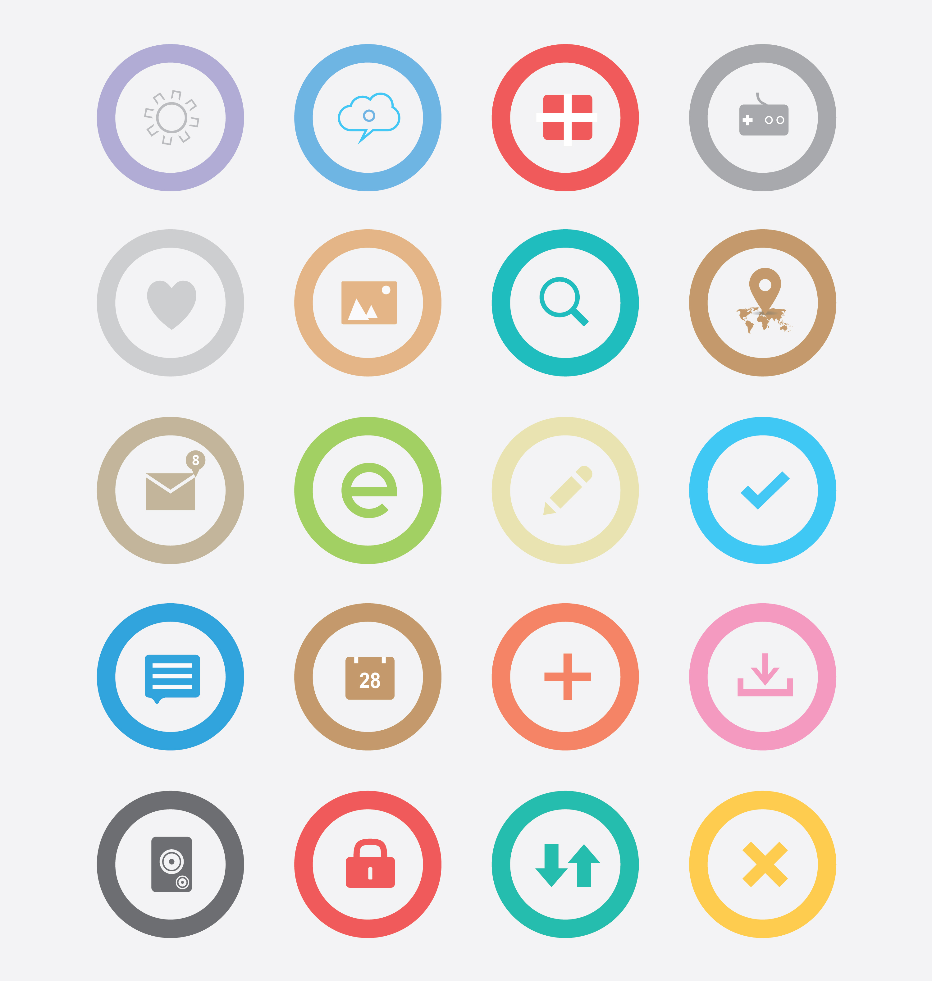Round Simple Icons